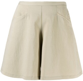 Forte Forte Sand-Washed Faille Shorts