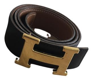Hermã ̈S HermAs H Black Leather Belts