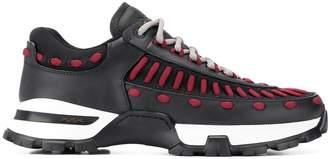 Ermenegildo Zegna contrasting stitch sneakers