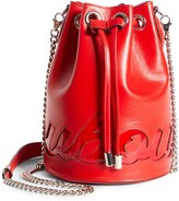 Christian Louboutin Marie Jane Logo Leather Bucket Bag