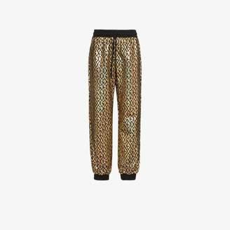 Gucci rhombus logo metallic track pants