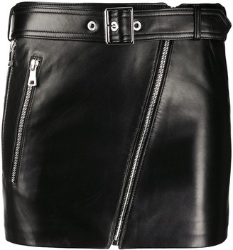 Manokhi Belted Leather Skirt