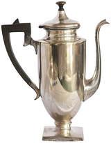 One Kings Lane Vintage Monogrammed English Teapot - Fleur de Lex Antiques - silver/black