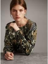 Burberry Beasts Print Cotton Sweater