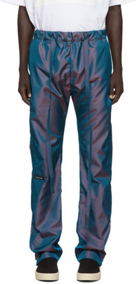 Fear Of God Blue Iridescent Nylon Baggy Lounge Pants