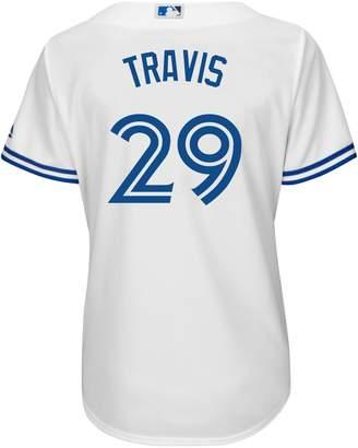 Majestic Devon Travis Toronto Blue Jays MLB Cool Base Replica Home Jersey Tee