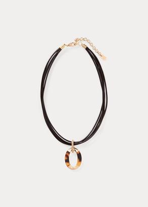 Ralph Lauren Tortoiseshell Pendant Necklace