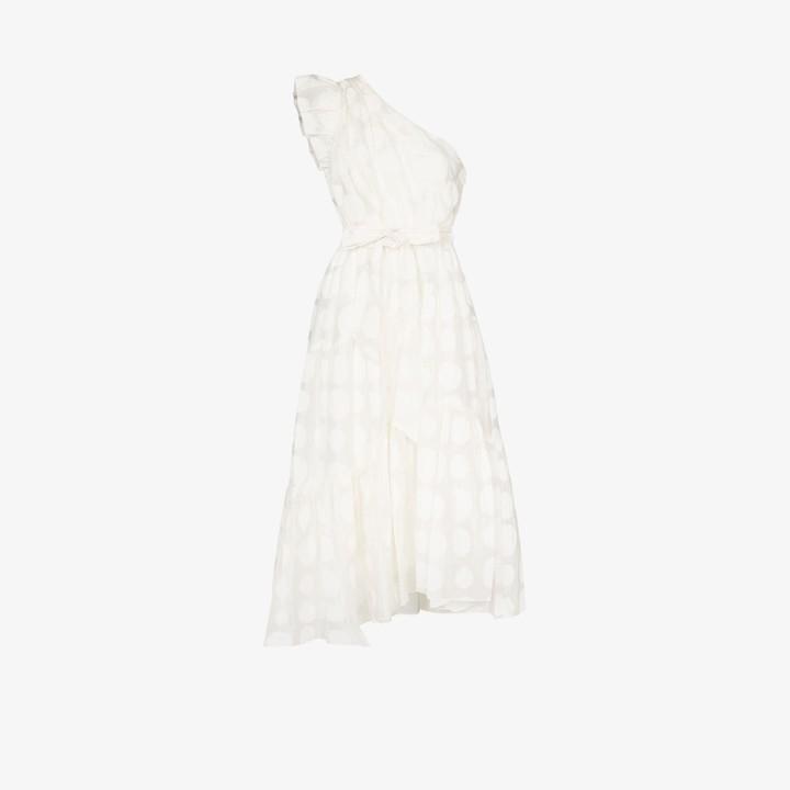 Ulla Johnson Arianne one shoulder belted dress