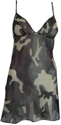 Christian Dior Khaki Synthetic Dresses