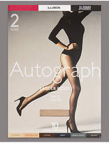 Autograph 10 Denier Ladder Resist Matt Tights 2 Pack