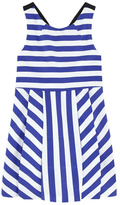 Jean Bourget Blue Striped Dress