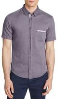 BOSS GREEN Micro Check Slim Fit Button Down Shirt