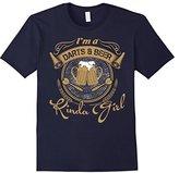 Men's I'm A Darts And Beer Kinda Girl T Shirt, Beer T Shirt Small