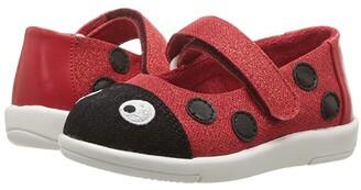 Emu Ladybug Ballet (Toddler/Little Kid/Big Kid) (Red) Girls Shoes
