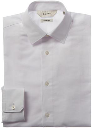 Ermenegildo Zegna Linen-Blend Slim Fit Dress Shirt