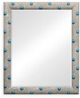 One Kings Lane The Polka Wall Mirror, Gray