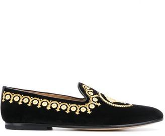 Versace Medusa head loafers