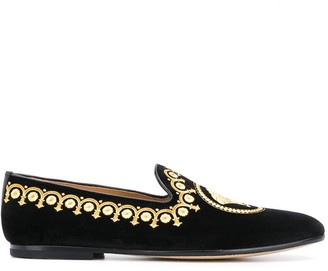 Versace Medusa head loafers
