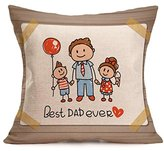 New Sale Happy Father's Day Cushion Cover,Highpot Vatious Letters&Cartoon Prints Square Throw Pillow Case Office Room Car Home Decor (T)