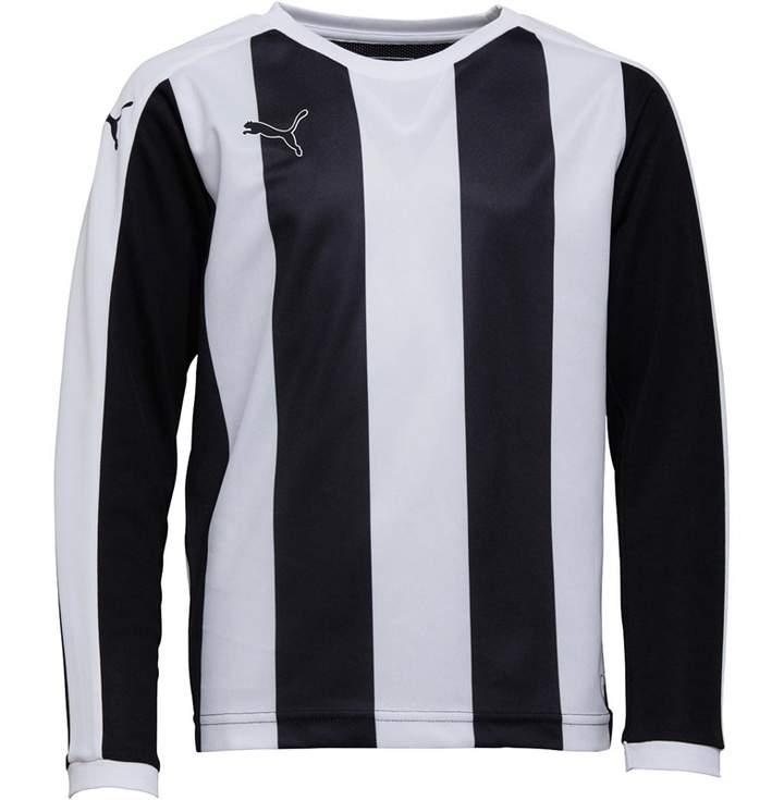 Puma Junior Boys Striped Long Sleeve Shirt Black/White