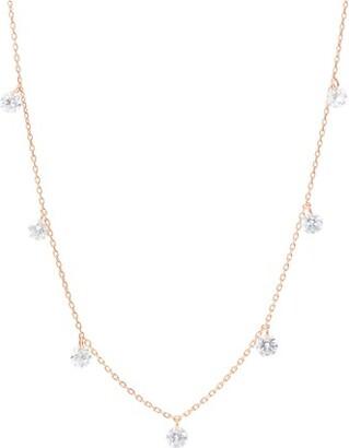 PERSÉE Necklace Danae 7 hanging diamonds