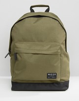 Nicce London Nicce Backpack In Khaki