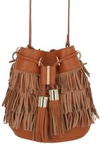 See by Chloe Small Vicki Fringed Nubuck Bucket Bag