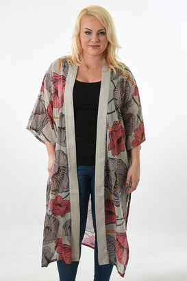Rose Hill Boutique - Long Pink and Grey Kimono