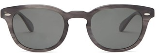Oliver Peoples Sheldrake Round Acetate Sunglasses - Black