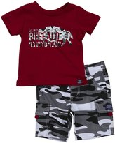 Buffalo 2 Piece Camo Short Set (Baby) - Jester Red-12 Months