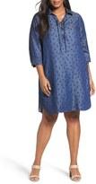 Foxcroft Plus Size Women's Print Shirtdress
