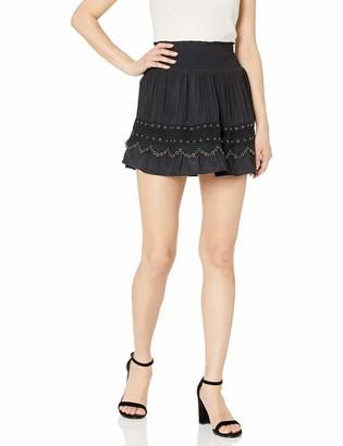 Ramy Brook Women's Darin Mini Skirt with Grommet Detail
