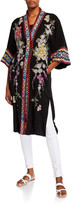 Johnny Was Keitaro Embroidered Elbow-Sleeve Kimono Jacket