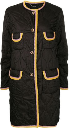 Ermanno Scervino Quilted Single-Breasted Coat