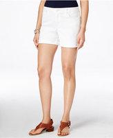 Tommy Hilfiger White Wash Cuffed Denim Shorts