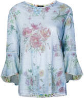 Avant Toi distressed floral print T-shirt