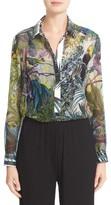 Max Mara Women's Gufo Tropicala Print Silk Blouse
