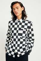 Loom Oversized Checkerboard Black and White Long-Sleeve Shirt