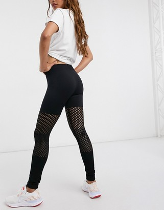 South Beach fitness seamless gradual mesh leggings in black