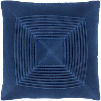 Overstock Quadratum Velvet Navy Feather Down Fill Throw Pillow 20-inch
