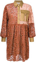 Erika Cavallini patchwork shirt dress