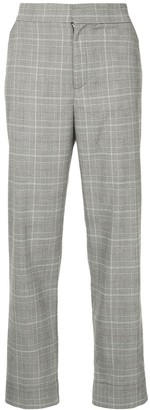 Georgia Alice high-rise Prince of Wales checked trousers