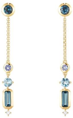 David Yurman Novella Drop Earrings in Gemstone with Diamonds