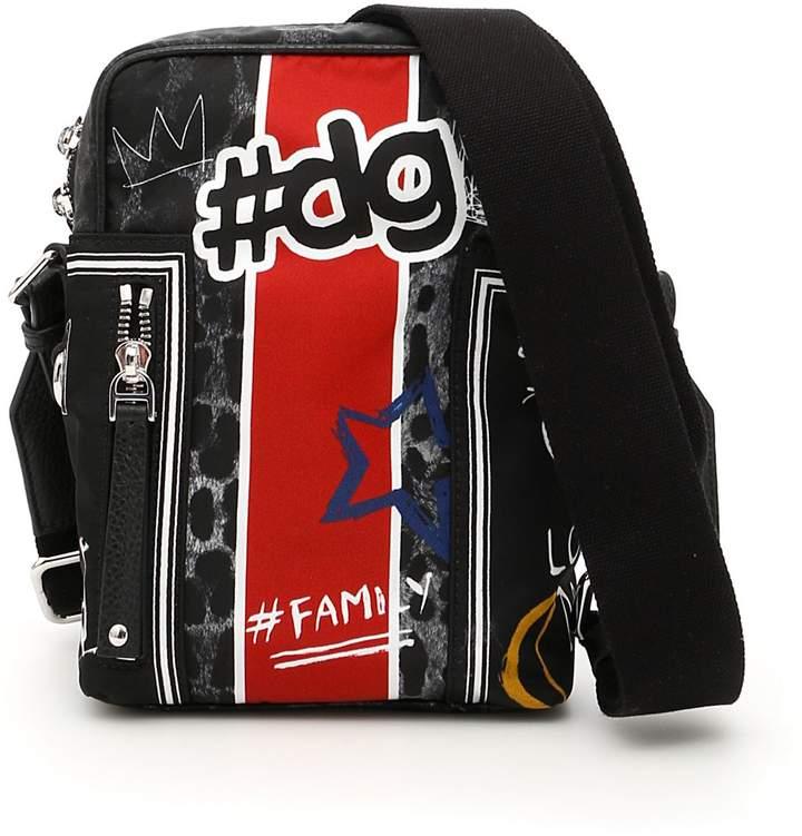 Dolce & Gabbana Graffiti Print Nylon Bag