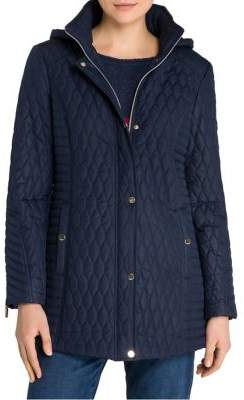 Olsen Quilted Hooded Car Coat