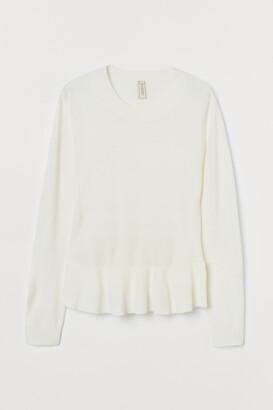 H&M Knit Sweater with Peplum
