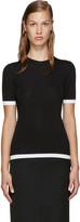 Givenchy Black Ribbed Viscose T-shirt