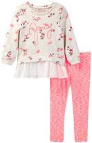 Juicy Couture Floral Tunic & Space Dye Legging Set (Toddler Girls)