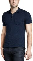 7 For All Mankind Slub Polo, Coastal Blue