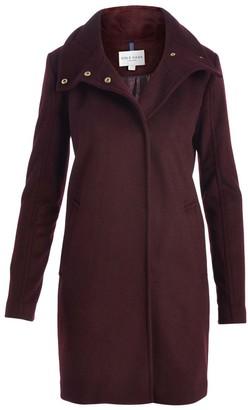 Cole Haan Women's Car Coats Bordeaux - Bordeaux Snap Wool-Blend Car Coat - Women